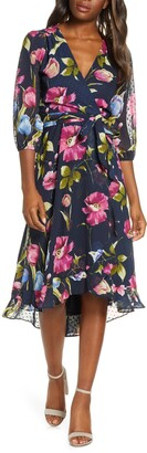 Maison Tara Minnie Floral Dot Jacquard Dress