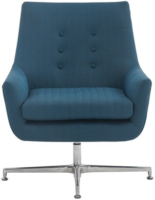 Safavieh Couture Jayla Linen Swivel Accent Chair