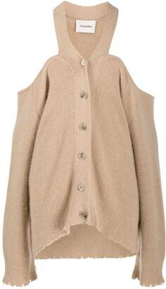 Nanushka Cold-Shoulder Cardigan