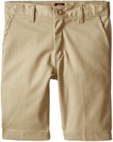 Dickies Khaki Big Boys' Slim Fit Stretch Flat Front Short
