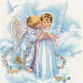Dimensions Needlecrafts Counted Cross Stitch, Angel Kisses