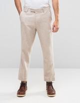 Asos Slim Cropped Trousers In Tweed