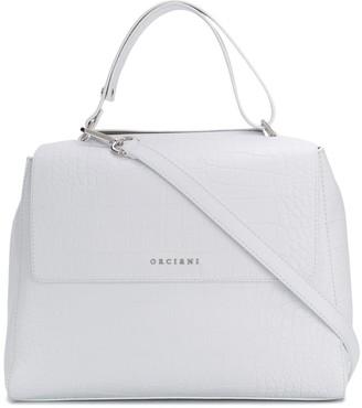 Orciani Sveva croc-effect shoulder bag