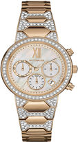 Wittnauer Womens Crystal-Accent Rose-Tone Stainless Steel Bracelet Watch WN4068