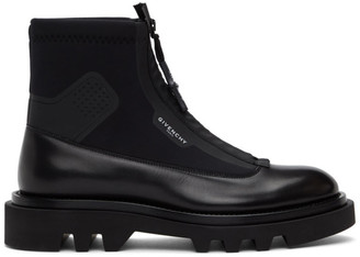 Givenchy Black Neoprene Combat Boots