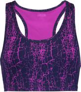 Yummie by Heather Thomson Printed stretch-cotton jersey sports bra