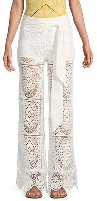 Surf.Gypsy Belted Crochet Pants