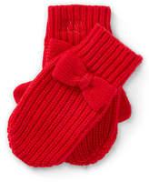 Ralph Lauren Bow Wool-Blend Mittens