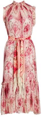 Zimmermann Wavelength Frill Silk Dress