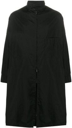 Yohji Yamamoto Single-Breasted Cotton Coat