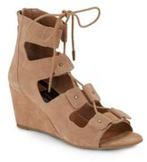 Dolce Vita Lorena Suede Lace-Up Wedge Sandals