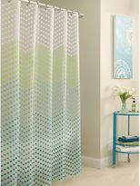 Bed Bath & Beyond PEVA Chevron Dots Shower Curtain