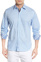Tailorbyrd &Poplar& Regular Fit Long Sleeve Print Sport Shirt (Big & Tall)