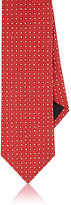 Barneys New York MEN'S POLKA DOT SILK JACQUARD NECKTIE