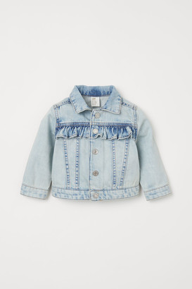H&M Frill-trimmed denim jacket