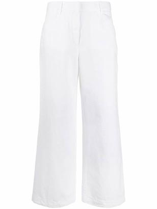 Incotex Wide-Leg Cropped Trousers