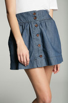 Chambray Button Through Skirt