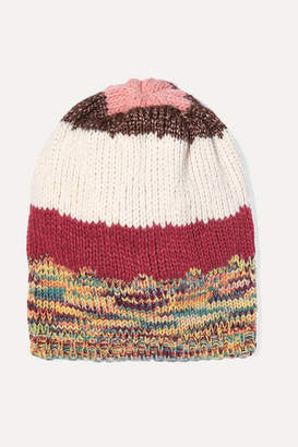 Missoni Striped Ribbed-knit Beanie - Pink
