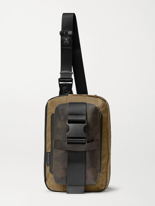 MASTERPIECE Rouge Camouflage-Print Coated-Cotton, CORDURA Ripstop and Nylon Sling Backpack - Men - Black