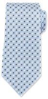 Ermenegildo Zegna Neat Diamond Silk Tie, Blue