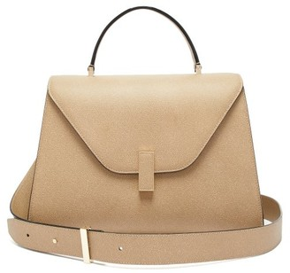 Valextra Iside Large Leather Top-handle Bag - Beige