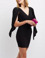 Charlotte Russe Caped Surplice Bodycon Dress