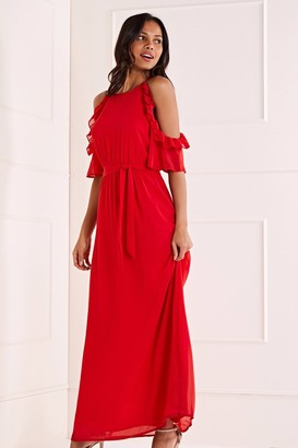 Yumi Side Frill Maxi Dress