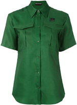 Rochas logo short sleeve shirt - women - Silk/Modal - 40
