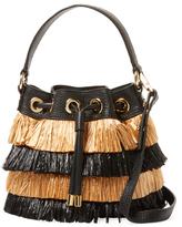 Milly Small Raffia Bucket Bag