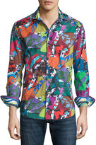 Robert Graham Cholla Cactus Printed Long-Sleeve Sport Shirt, Multicolored
