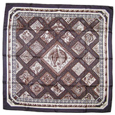 One Kings Lane Vintage Hermes Mare Nostrum Scarf with Box - The Emporium Ltd. - steel gray/taupe/beige/brown/black