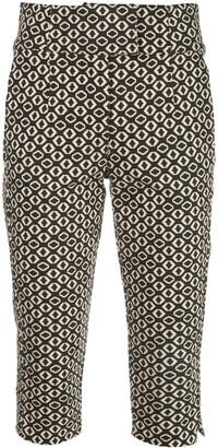 Nicholas Geometric Print Cropped Trousers