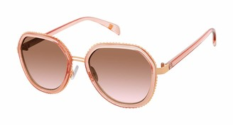 Laundry by Design Women's LD297 Geometric Sunglasses with 100% UV Protection 53 mm