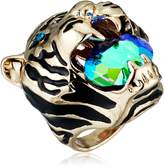 Betsey Johnson Mystic Baroque Queens Gold Tiger Statement Ring, Size 8