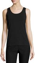 Nic+Zoe Perfect Jersey Scoop-Neck Tank, Black Onyx, Plus Size
