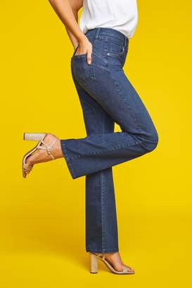 Next Womens Dark Blue Lift, Slim And Shape Boot Cut Jeans - Blue