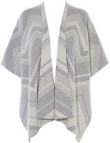 Karen Millen Chevron Wool Cape - Grey/multi