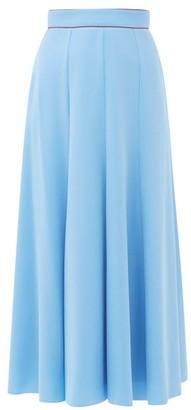 Roksanda Nusa Crepe Midi Skirt - Womens - Blue