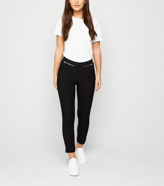 New Look Petite Zip Front Stretch Slim Fit Trousers