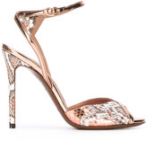 L'Autre Chose snakeskin-effect sandals