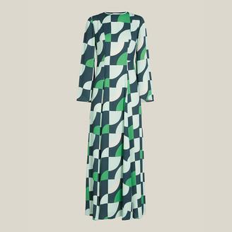 LAYEUR Green Wharton Fit and Flare Maxi Dress FR 50