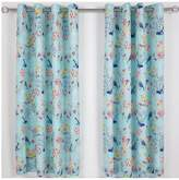 Catherine Lansfield Floral Birdcage Lined Eyelet Curtains