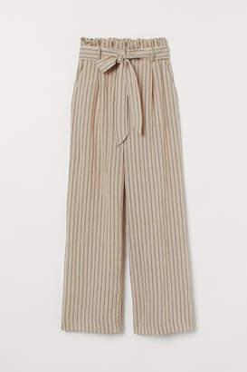 H&M Wide-cut Paper-bag Pants