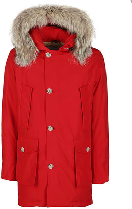 Woolrich Red Cotton Blend Down Jacket