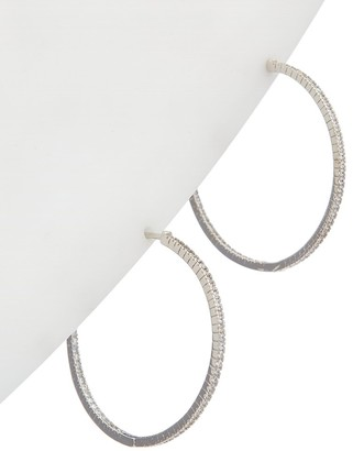 Alanna Bess Limited Collection Silver Cz Large Classic Hoops