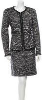 Chanel Metallic Wool Skirt Suit