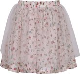 Richie House Girls' Floral Skirt with Mesh Covered RH2687-A