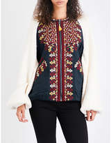 Free People Two Faced cotton-knitted jacket
