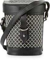 Kelsi Dagger Ainslie Straw Canteen Crossbody Bag, Black/Multi