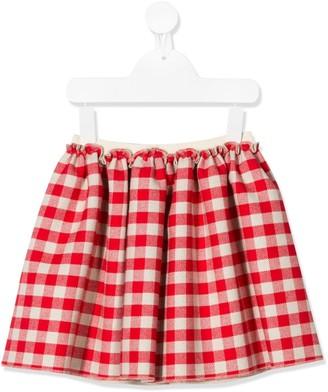 Douuod Kids Checked Pleated Skirt